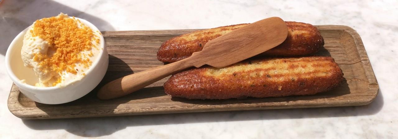 Bacon Cornbread, Chipotle Maple Butter
